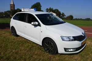 Rijles in een Skoda Rapid Spaceback